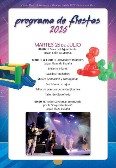 Programa de fiestas 2016 en el Carpio de Tajo en honor a Santiago apóstol Carpio2016_4