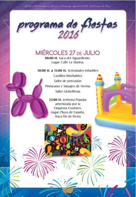 Programa de fiestas 2016 en el Carpio de Tajo en honor a Santiago apóstol Carpio2016_5