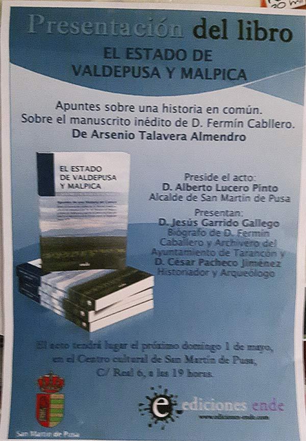 Presentación del libro: El estado de Valdepusa y Malpica  Presenbrovaldepusa